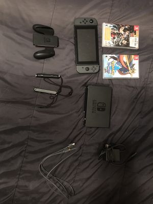Nintendo switch with 2 games + Accessories for Sale in Dallas, TX