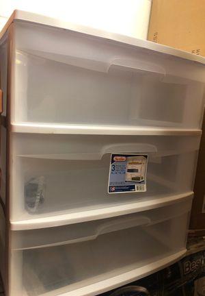 3 drawer storage cabinet for Sale in Durham, NC