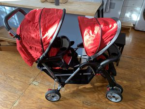 Costway Foldable double stroller. Red. for Sale in San Francisco, CA