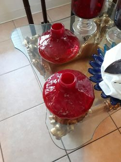 Glass Red Decanter.. 2. Pcs for Sale in Orlando,  FL