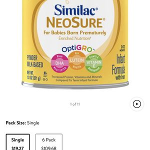 Similac neosure opti Grow 5 Sealed Cans for Sale in Lancaster, CA
