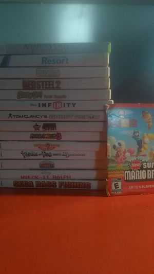 Wii bundle 15games for Sale in Oxon Hill, MD