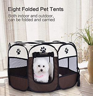 Dog playpens Large, Pen Kennel for Dogs Puppy Cats Rabbits Small Animals, Portable Pets Tent Indoor & Outdoor for Sale in River Grove, IL