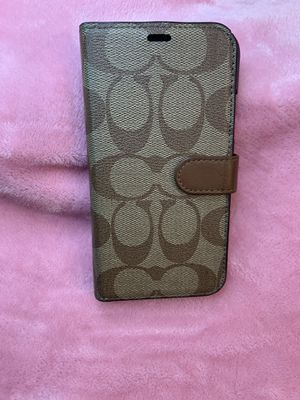 iPhone XS/X COACH PHONE CASE/CARD HOLDER for Sale in Clinton Township, MI