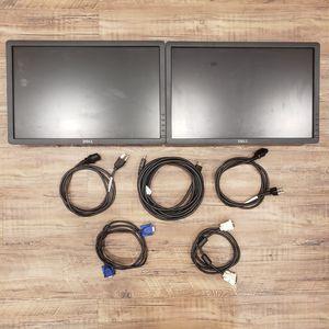 Dual Dell Monitors for Sale in Boston, MA