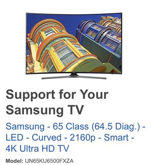 """Samsung 65"""" class LED - Curved - 2160p - Smart 4K Ultra HD TV for Sale in Annandale, VA"""