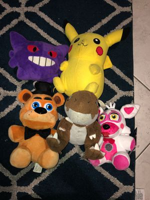 Pokemon and Five Nights at Freddy's Plushies for Sale in Oceanside, CA