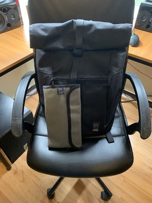 Chrome rolltop backpack with extras for Sale in Portland, OR