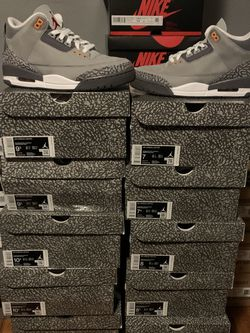 """Jordan 3 Retro """"Cool Grey"""" Sizes 7, 7.5, 8, 8.5, 9, 9.5, 10, 10.5, 11, and 11.5 MEN for Sale in Bellwood,  IL"""
