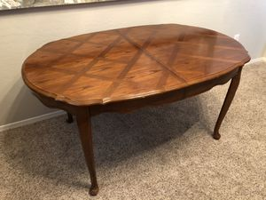 Gorgeous solid wood Oval kitchen Table Oval Desk for Sale in Chandler, AZ