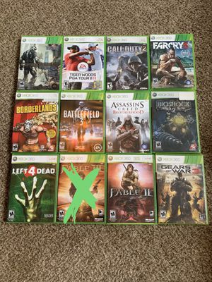 Xbox 360 video games $10 each for Sale in Portland, OR