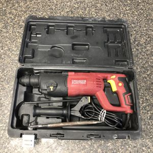 """Chicago Electric 69276 1"""" 7.3 Amp SDS Variable Speed Rotary Hammer With Case & Bits 89797-1 for Sale in Tampa, FL"""