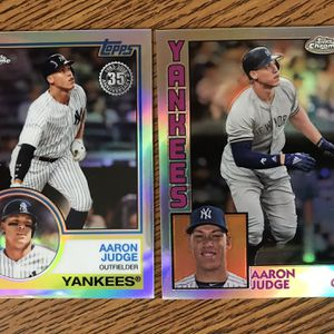 AARON JUDGE Topps Chrome Refractor 35th Anniversary Baseball Card Lot 1983 & 1984 Vintage, Christmas Gift for Sale in Los Angeles, CA