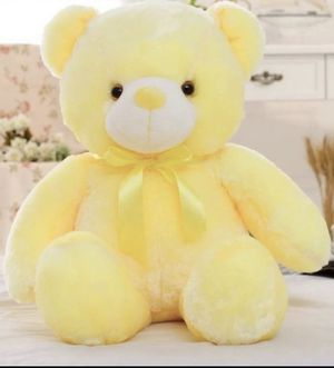 "LED light up changing colors 18"" tall huggable Teddy Bear for Sale in Akron, OH"