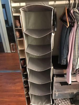 6-shelf Hanging closet organizer for Sale in Santa Monica, CA
