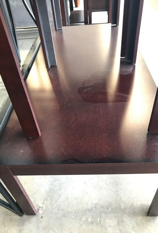 Brown coffee end tables