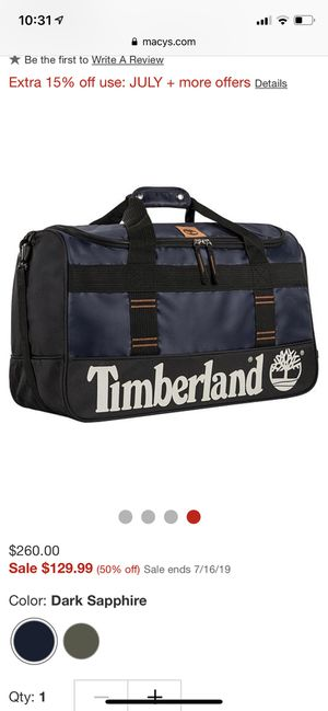 Timberland duffle bag 22 inches for Sale in Houston, TX
