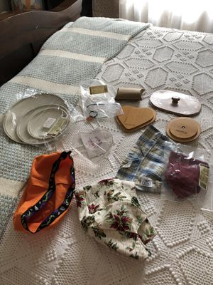 LONGABERGER Accessories lids plastic inserts material inserts etc $25 for Sale in Sewell, NJ