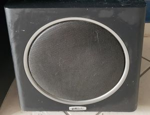 3 polk audio speakers, sub woofer, and roll of high definition cable. for Sale in Hialeah, FL