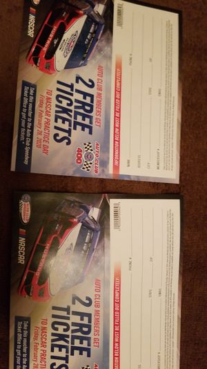 Nascar tixs for Sale in Norco, CA