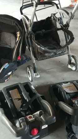 Baby Carseat, Stroller, 2 Car Seat Bases for Sale in Fresno,  CA