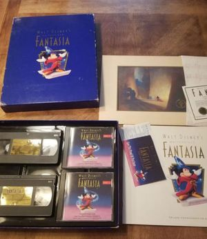 Walt Disney Fantasia boxed collector set DVD vhs _ print- SEE DETAILS ENTIRELY firm price for Sale in Hollywood, FL