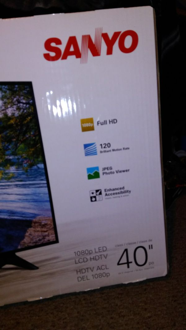 Brand new 40 inch Sanyo flat screen TV