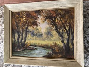"""15""""X19"""" Framed Nature Oil Painting for Sale in North Royalton, OH"""