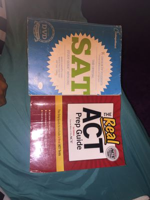 SAT study guide with DVD and ACT Prep guide for Sale in Gainesville, FL