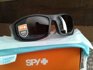 New Spy Optics Matte Black Sunglasses, Happy Grey Green Lenses ANSI Z87.1 Certified for Sale in Lake Forest, CA