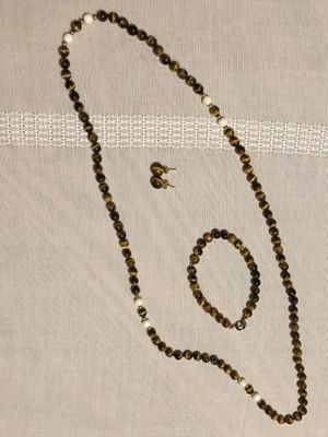 Tiger Eye necklace, bracelet, and ear rings for Sale in Richmond, VA
