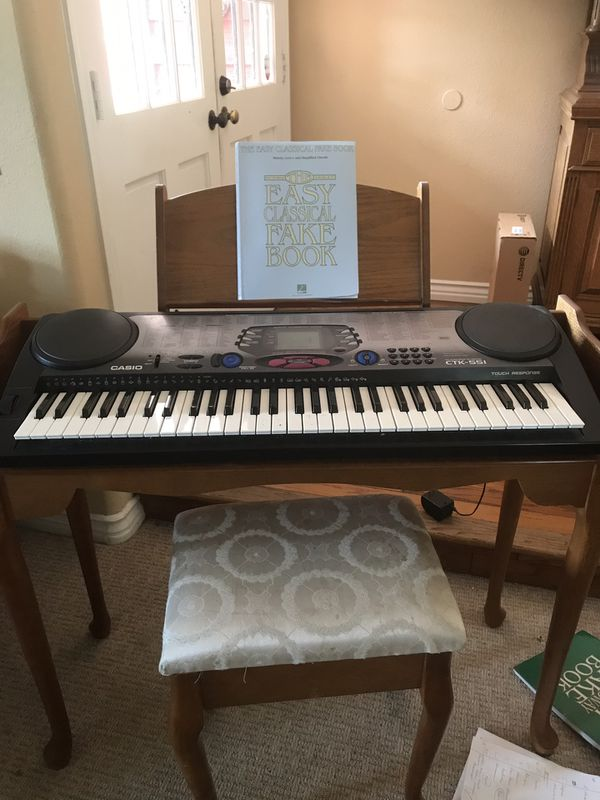 Furniture style keyboard stand with stool