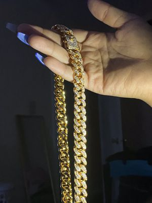 """16"""" Iced out Cuban link for Sale in Winston-Salem, NC"""