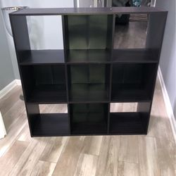 Dark Brown Wood Cube organizer Shelf for Sale in Manalapan Township,  NJ
