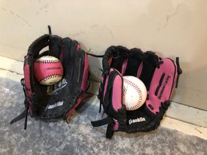 Girls Baseball Gloves And Balls for Sale in Snohomish, WA