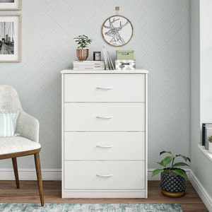 Mainstays Classic 4 Drawer Dresser, White Finish for Sale in Houston, TX