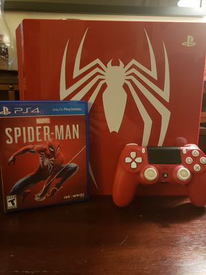 Sony PS4 Pro Limited Edition Spiderman Bundle for Sale in Fairfax, VA