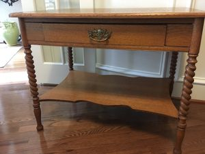 Oak Library Table for Sale in The Woodlands, TX