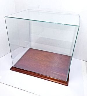 Large Glass Doll House Miniature Display Room Box Wood Base for Sale in Rancho Santa Margarita, CA