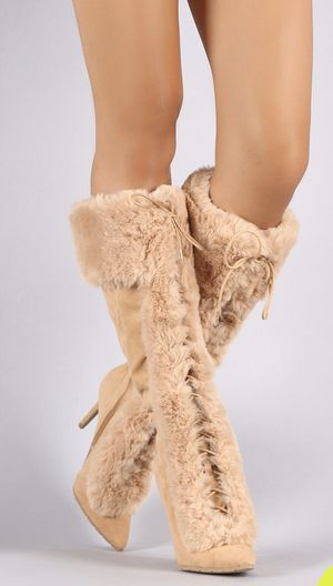 Fur High Heel Boots for Sale in Brooklyn, NY