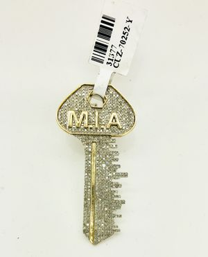 10K Solid Yellow Gold 1.27 Ctw Real Diamonds Miami Key Pendant Charm. for Sale in Indianapolis, IN