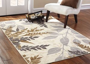 Area Rug Decoration for Living Room, Dining Room, Office Bedroom Tan Leaves for Sale in Bluffdale, UT