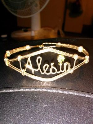 Custom Wire Nameplate Bracelet for Sale in Cleveland, OH