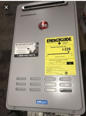 Rheem Performance Plus 9.5 GPM Natural Gas Outdoor Tankless Water Heater for Sale in Fresno, CA