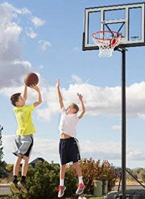 "New!! Basketball set, 46"" backboard basketball system , portable basketball hoop for Sale in Phoenix, AZ"