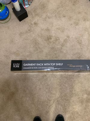 Brand New/Never Used/In Box! Garment Rack w/ Top Shelf for Sale in North Bethesda, MD