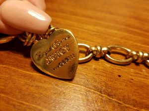 Juicy Couture Gold Heart Charm Bracelet for Sale in Austin, TX