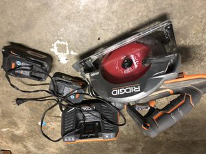 Rigid skill saw with 5.0 battery, 2.0 battery, and charger!! 130 OBO!!! for Sale in Kent, WA