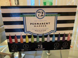 Permanent maker 72 pz finé point & ultra fine point for Sale in Buena Park, CA