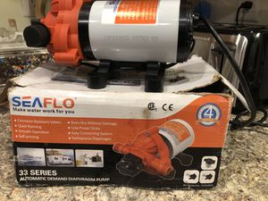 Sea flo 33 series 115v automatic diaphragm pump for Sale in Alexandria, IN